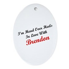 In Love with Brendon Oval Ornament