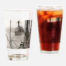 eflarson ddr framed panel print Drinking Glass