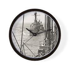 eflarson ddr framed panel print Wall Clock