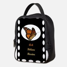 12x12 ask believe receive Neoprene Lunch Bag
