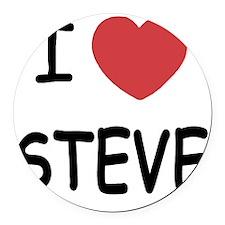 STEVE Round Car Magnet