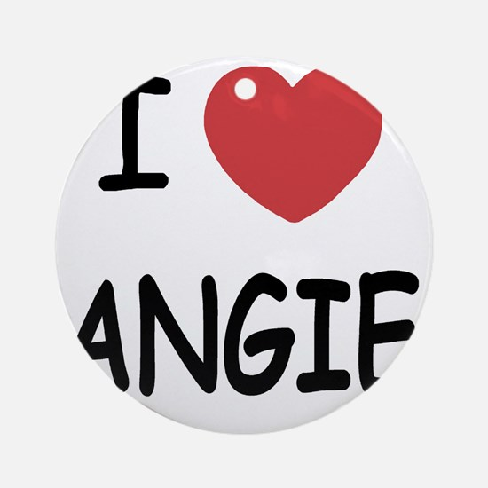 ANGIE Round Ornament