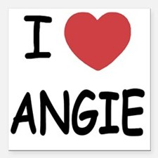 """ANGIE Square Car Magnet 3"""" x 3"""""""