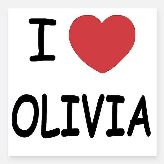 "OLIVIA Square Car Magnet 3"" x 3"""