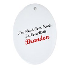 In Love with Brandon Oval Ornament
