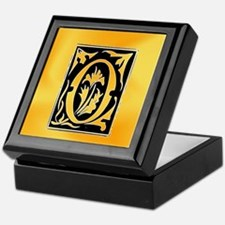 O-O letter Open heart for love Keepsake Box