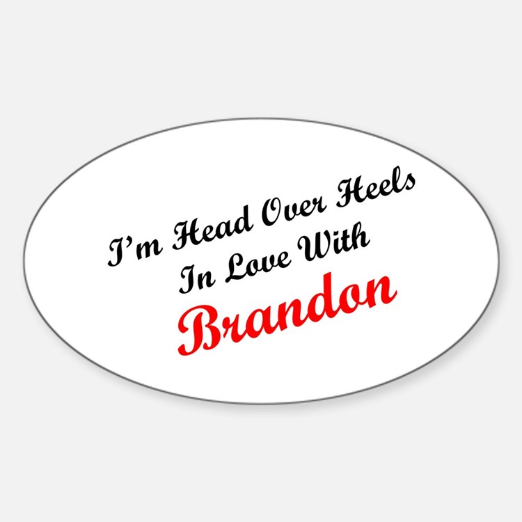In Love with Branden Oval Decal