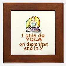 YogaChick Days Framed Tile