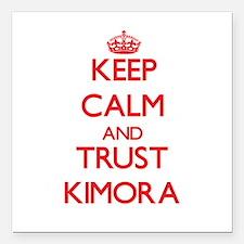 "Keep Calm and TRUST Kimora Square Car Magnet 3"" x"