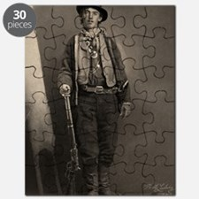 14X10 Billy the Kid BW Print Puzzle