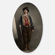 23X35 Billy the Kid Color Print Sticker (Oval)