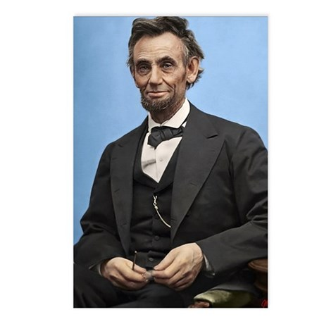9X12 Abe Lincoln Color Pr Postcards (Package of 8)