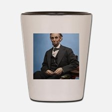 14X10 Abe Lincoln Color Print Shot Glass