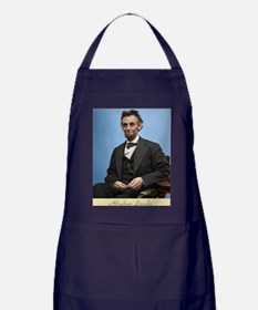 14X10 Abe Lincoln Color Print Apron (dark)