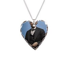 23X35 Abe Lincoln Color Print Necklace