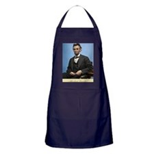 23X35 Abe Lincoln Color Print Apron (dark)
