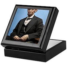 23X35 Abe Lincoln Color Print Keepsake Box