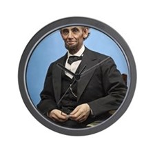 23X35 Abe Lincoln Color Print Wall Clock