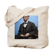 23X35 Abe Lincoln Color Print Tote Bag