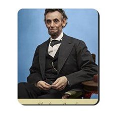 23X35 Abe Lincoln Color Print Mousepad
