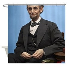 23X35 Abe Lincoln Color Print Shower Curtain