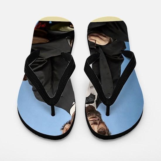 23X35 Abe Lincoln Color Print Flip Flops