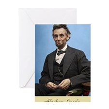 23X35 Abe Lincoln Color Print Greeting Card