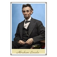 23X35 Abe Lincoln Color Print Banner