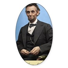 23X35 Abe Lincoln Color Print Decal
