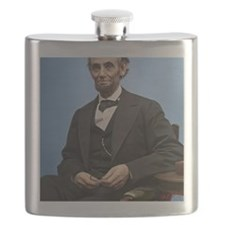 23X35 Abe Lincoln Color Print Flask