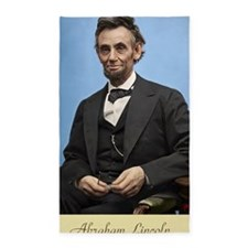 23X35 Abe Lincoln Color Print 3'x5' Area Rug