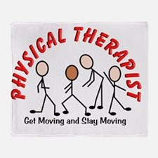 physical therapist 2 get moving red Throw Blanket