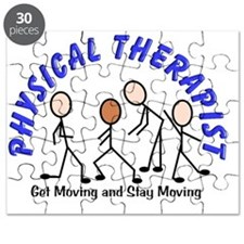 physical therapist 3 blue Puzzle