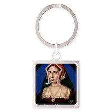 14X10 Anne Boleyn Print Square Keychain