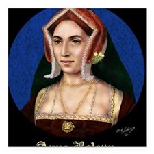 "14X10 Anne Boleyn Print Square Car Magnet 3"" x 3"""