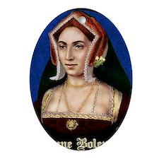 14X10 Anne Boleyn Print Oval Ornament