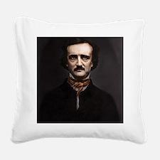 16X20 Edgar Allan Poe Print Square Canvas Pillow