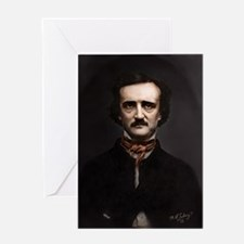 16X20 Edgar Allan Poe Print Greeting Card