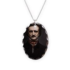 14X10 Edgar Allan Poe Print Necklace Oval Charm