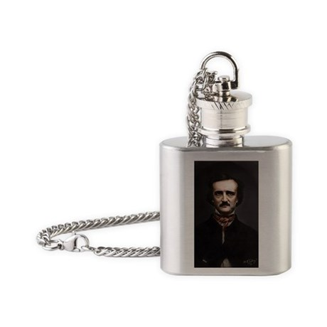 5X8 Edgar Allan Poe Journal Flask Necklace