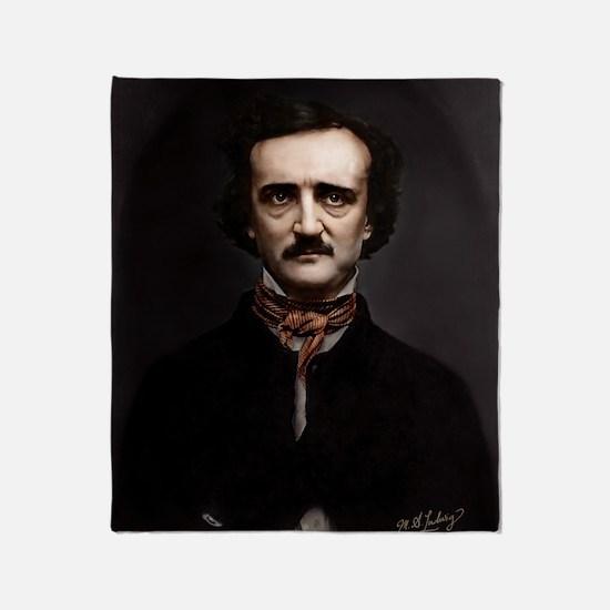 9X12 Edgar Allan Poe Print Throw Blanket