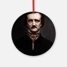 9X12 Edgar Allan Poe Print Round Ornament