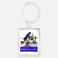 Remember our Fallen (for white s Portrait Keychain