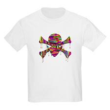 Alien Jolly Roger Melting Kids T-Shirt