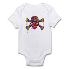 Alien Jolly Roger Melting Infant Bodysuit