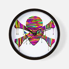 Alien Jolly Roger Melting Wall Clock