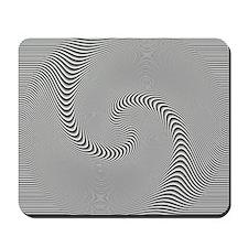 black-white-grey-swirl Mousepad
