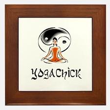 YogaChick Logo Framed Tile