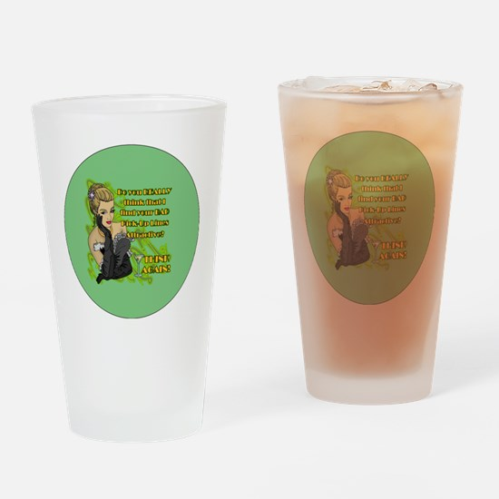 BAD-PICK-UP-LINES-3-INCH-BUTTON Drinking Glass