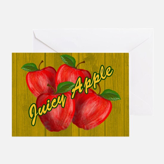 JUICY-APPLE-WOODGRAIN-PILLOW-CASE Greeting Card